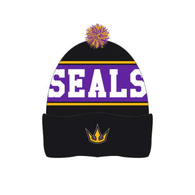 Custom Beanie Purple Stripe