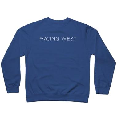 Facing West (White Logo) Crewneck Sweatshirt