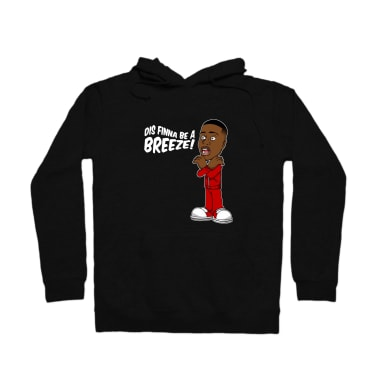 Dis Finna Be A Breeze (White) Pullover Hoodie