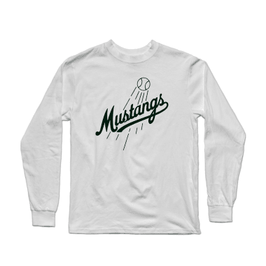 Mustangs Script Baseball Longsleeve Shirt