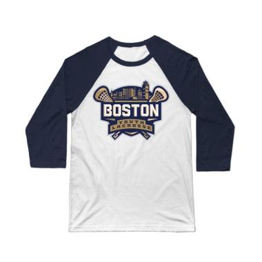 Boston Youth Lacrosse Baseball Tee