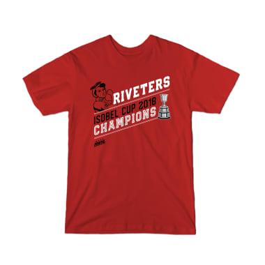 Riveters Isobel Cup Champs T-Shirt