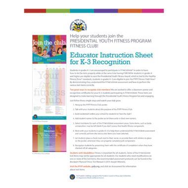 PYFP K-3 Instructional Sheet