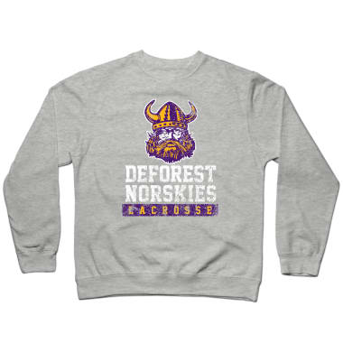 DeForest Norskies Lacrosse (Weathered) Crewneck Sweatshirt