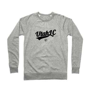 Utah Logo Black Crewneck Sweatshirt