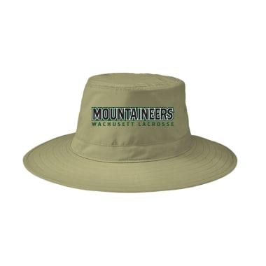 Wachusett Lacrosse Mountaineers Text Sideline Hats