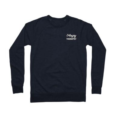 The Angry Therapist Script Crewneck Sweatshirt