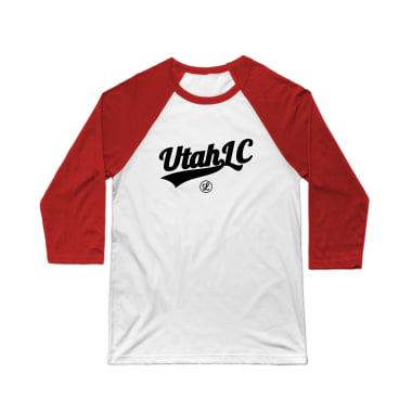 Utah Logo Black Baseball Tee