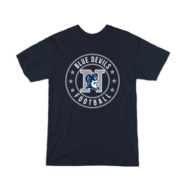 Blue Devils Football Badge Youth T-Shirt
