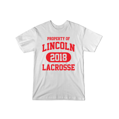 Property of Lincoln Lax 2018 T-Shirt