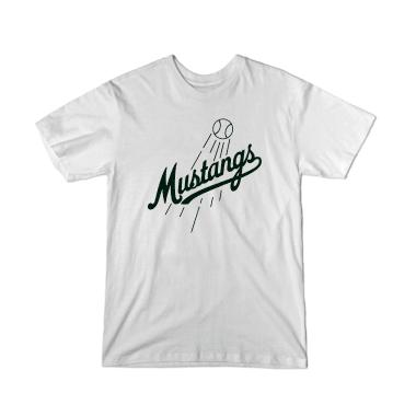 Mustangs Script Baseball T-Shirt