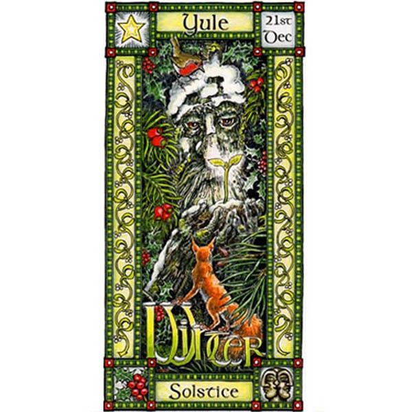 Winter Solstice Festival Greeting Card 21st Dec Yule Pagan Celtic