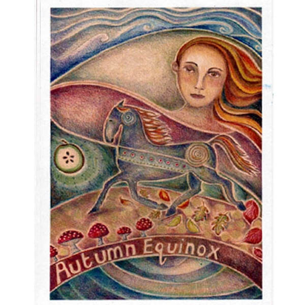 Autumn Equinox Festival Greeting Card 21st Sept Pagan Wiccan Celtic