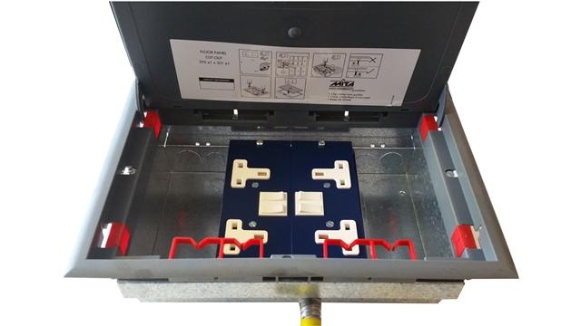 Mita Floor Box 4 Compartment Enclosure Electrical Cable