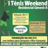 """I Tennis Weekend - Gênesis II - """"Torneio de Simples"""""""