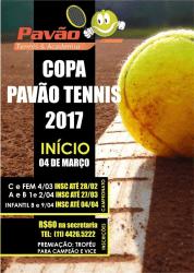 COPA PAVÃO DE TÊNIS 2017 - A