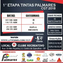 1ª Etapa Tintas Palmares CGT 2018 - Categoria Dupla Livre