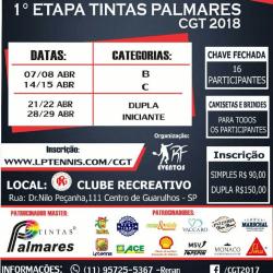 1ª Etapa Tintas Palmares CGT 2018 - Categoria Iniciante