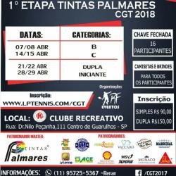 1ª Etapa Tintas Palmares CGT 2018 - Categoria B