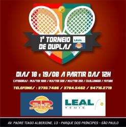 I - Torneio de Duplas Doubler R e Leal Tênis / 2018 - Master 250