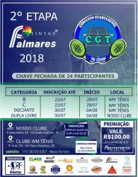2º Etapa Tintas Palmares CGT 2018 - Categoria Dupla Livre