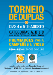 1º Torneio de Duplas 2018 - Categoria C