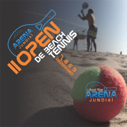 2º Open de Beach Tennis - Arena Jundiaí - Masculino Pro