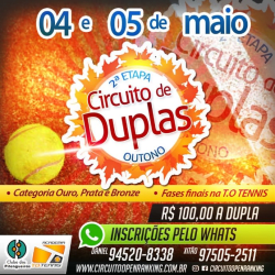 Circuito de Duplas Etapa Outono - Bronze