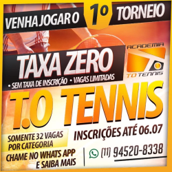 TORNEIO FREE T.O. TENNIS - Categoria B