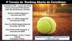 1º Torneio de Ranking Aberto do Corinthians - A