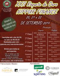 XXII Raquete de Ouro NIPPUR FINANCE - Primeira Classe Masculino