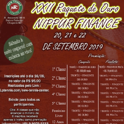 XXII Raquete de Ouro NIPPUR FINANCE ( Feminino B ) - Feminino