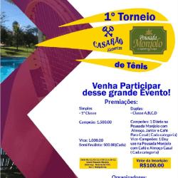 1º Torneio Casarão AlimentosPousada Monjolo de Tênis - 1° Classe