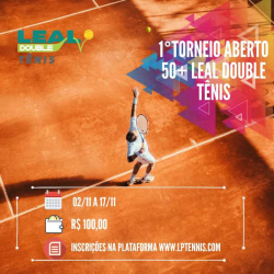 1. Torneio aberto 50+ Leal Double Tênis 2019 - Categoria B