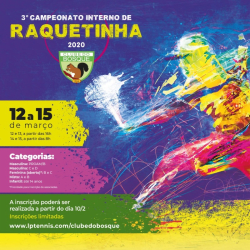 3 ° Torneio Interno de Raquetinha - Proam / B