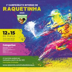 3 ° Torneio Interno de Raquetinha - Feminino B/C