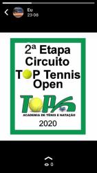2ª Etapa Circuito Top Tennis Open - Categoria A