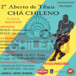 2° Aberto de Tênis CHÁ CHILENO - Terceira Classe