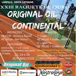 XXIII Raquete De Ouro ORIGINAL OIL - Terceira Classe