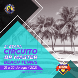 2a Etapa do Circuito BR Master Beach Tennis ABTERJ