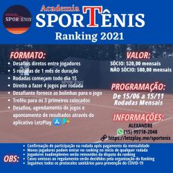 SporTênis Ranking 2021 - Tênis Simples
