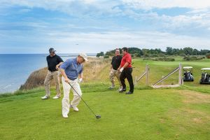 Golfing in Manistee
