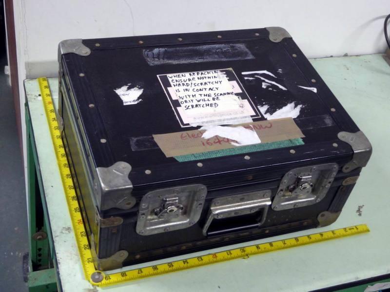 Ruggedised black flight case in fibreglass with steel corners