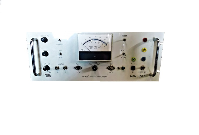 Three phase inverter control panel with analogue meter