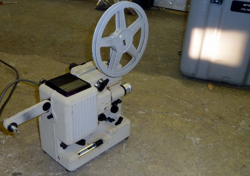 Period practical cine projector