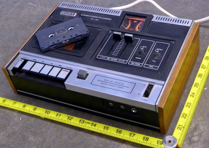 Practical 1970s Sony cassette deck
