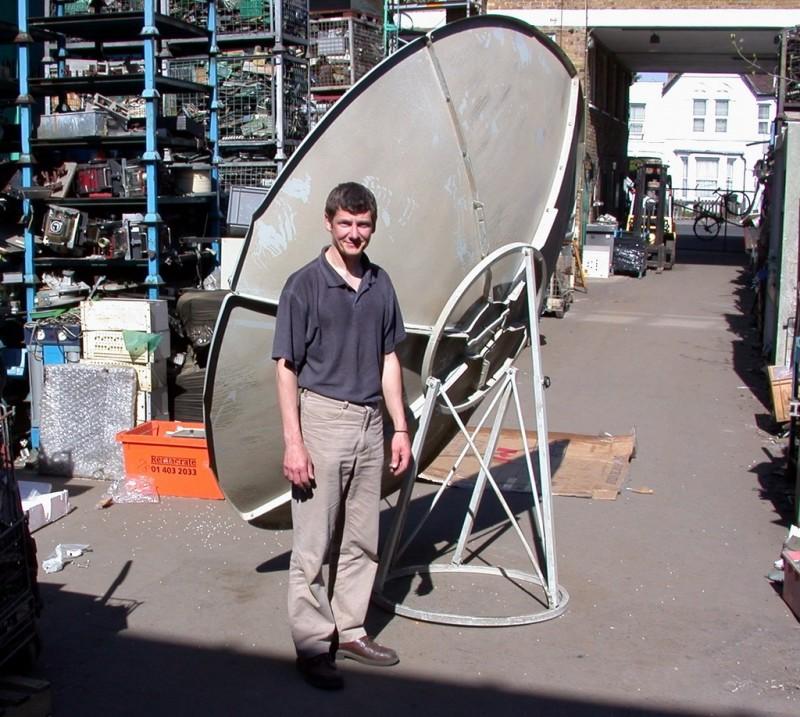 2.4 metre flat-pack satellite dishes