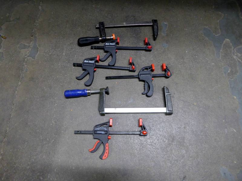 Selection of small workshop G clamps