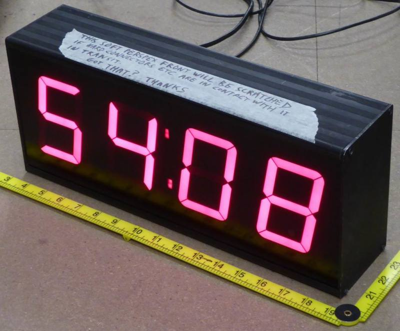 4 digit film friendly up/down counter/clock with controlling laptop