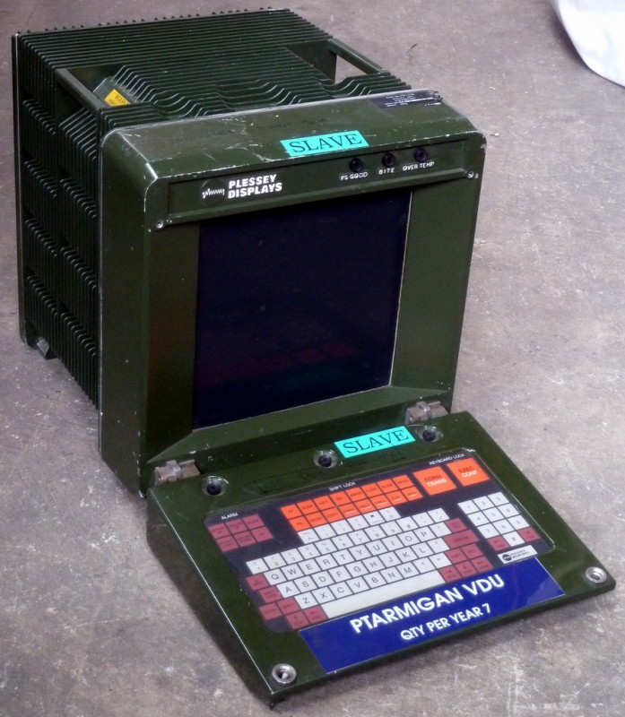 Military khaki coloured battlefield computer